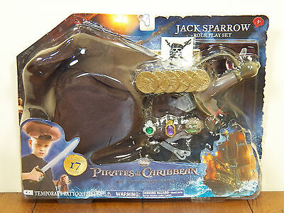 Pirates Of The Carribean Jack Sparrow 17 Pc Halloween Roleplay Costume Set *NEW*](Carribean Costumes)
