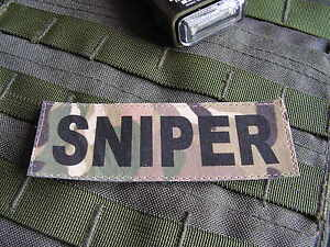 Patch-Velcro-SNIPER-multicam-Tir-ghillie-airsoft-lunette