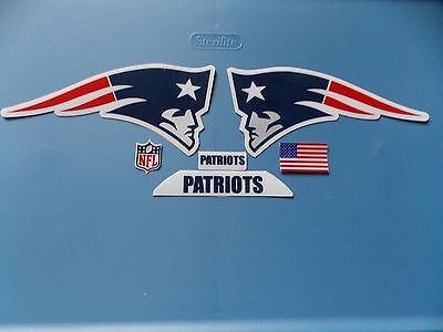 New England Patriots football helmet decals set with - New England Patriots Helmet