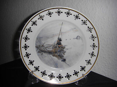Porzellanfabrik Bing & Grøndahl Wandteller Fiskeri um 1978