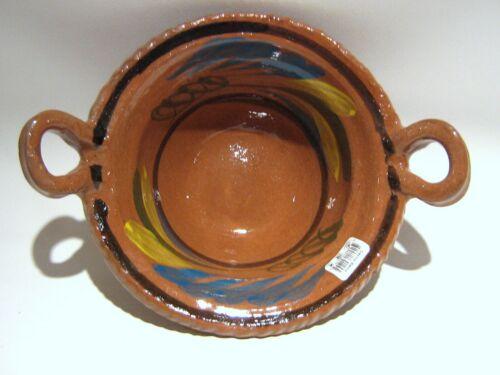 Cazuela de Barro Decorada CHICA. SMALL Decorated Clay Casserole CHK MEASUREMENTS