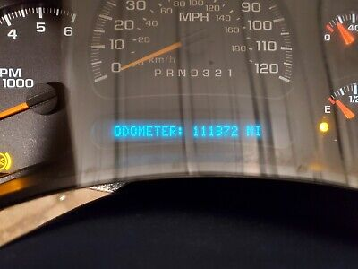 2003 2004 2005 2006 Chevrolet Silverado low miles  Speedometer Cluster 15287370