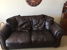 Leather 2 seater sofa Beaumaris Bayside Area Preview