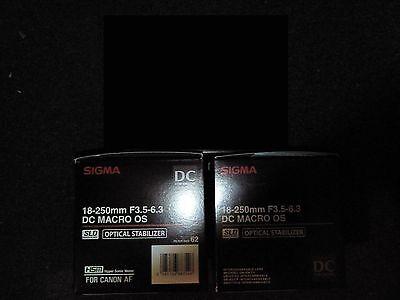 Sigma 18-250mm f/ 3.5-6.3 DC Macro OS HSM Zoom Lens Canon DSLR Bundle new