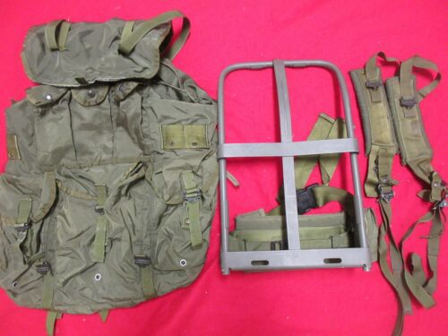 US ARMY ISSUE ALICE LARGE RUCK PACK & FRAME STRAPS COMPLETE CHECKED MODIFIED