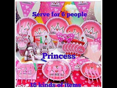 Theme Party Supply Kits (16 Kinds of Items in a pack) Set For 6](Kinds Of Party)