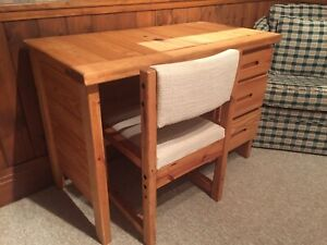 Small Wooden Desk and Chair