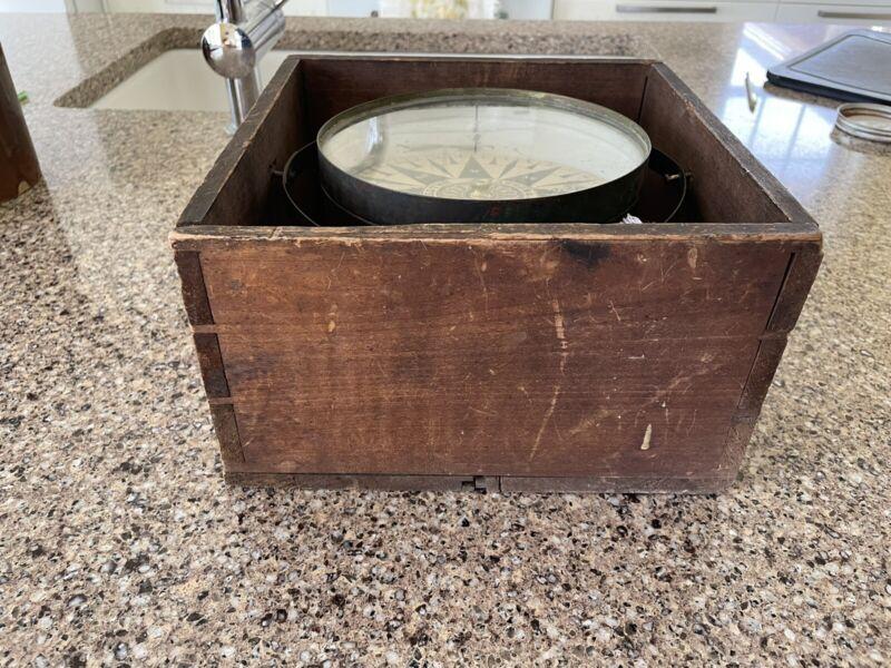 Rare NAUTICAL Antique HAGGER COMPASS MID 1800