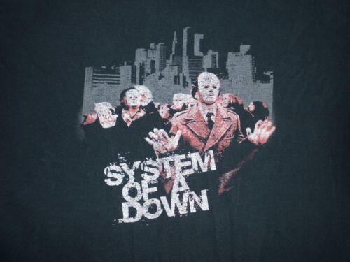 SYSTEM of a DOWN tour t-shirt Masks LG black band metal rock music SOAD