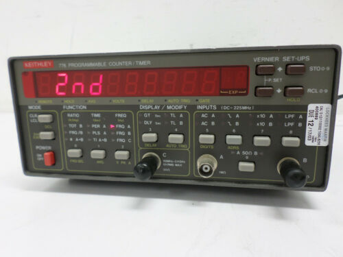 KEITHLEY 776/R PROGRAMMABLE COUNTER / TIMER WITH 2.4 GHZ OPTION Fully Functions