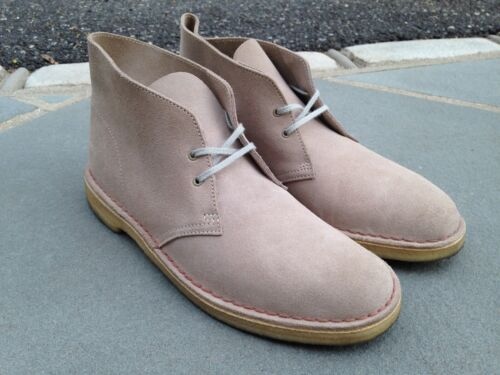 WORN ONCE Clarks 31695 Taupe/Sand Suede Desert Chukka Boots w/ Crepe Sole 10.5US