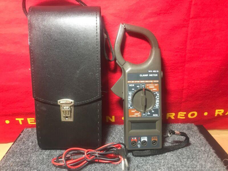 Digital Clamp Meter MULTI TESTER model DM 266  w/leads case