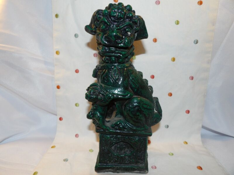 """Concrete Chinese Foo Dog Lucky Heavy! 11"""" x 5"""""""