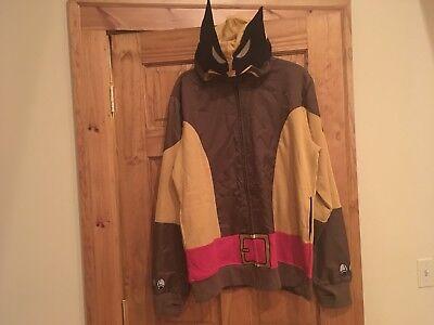 Marvel X-Men Wolf Wolverine Adult Brown Costume Hoodie Sweatshirt Size MD Or LG - Marvel Beast Costume