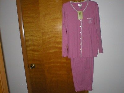 NWT 2pcSoft Pink Classic Elements Brand Cotton Pajama SET Size LARGE