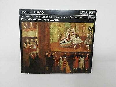 Handel Flavio Ensemble 415 Dir. Rene Jacobs- CD Book Only (ENG, FR, GRM, ITA)