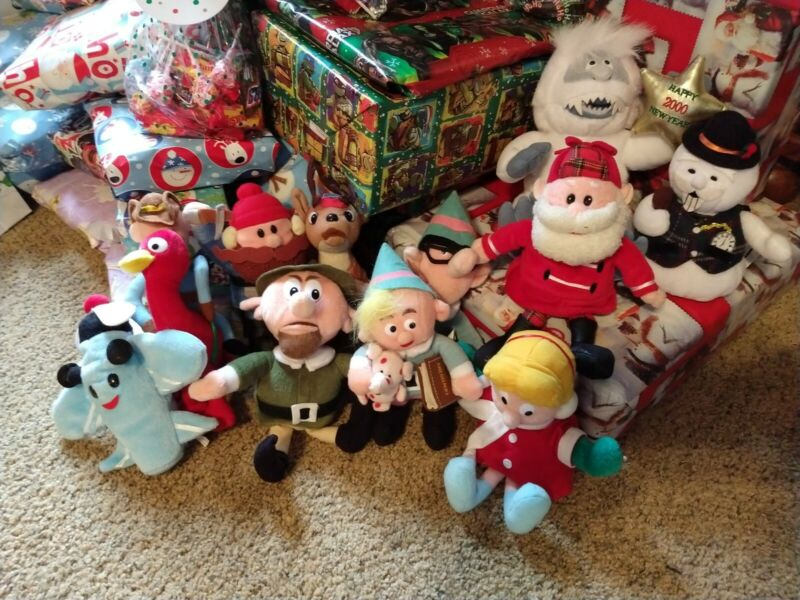 11 Stuffed  From Rudolph The Red-Nosed Reindeer Abominable Snowman Santa...
