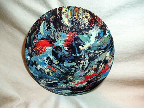 """""""THE LITTLE BLUE HORSE"""" 1ST EDITION PLATE BY LENORE BE"""