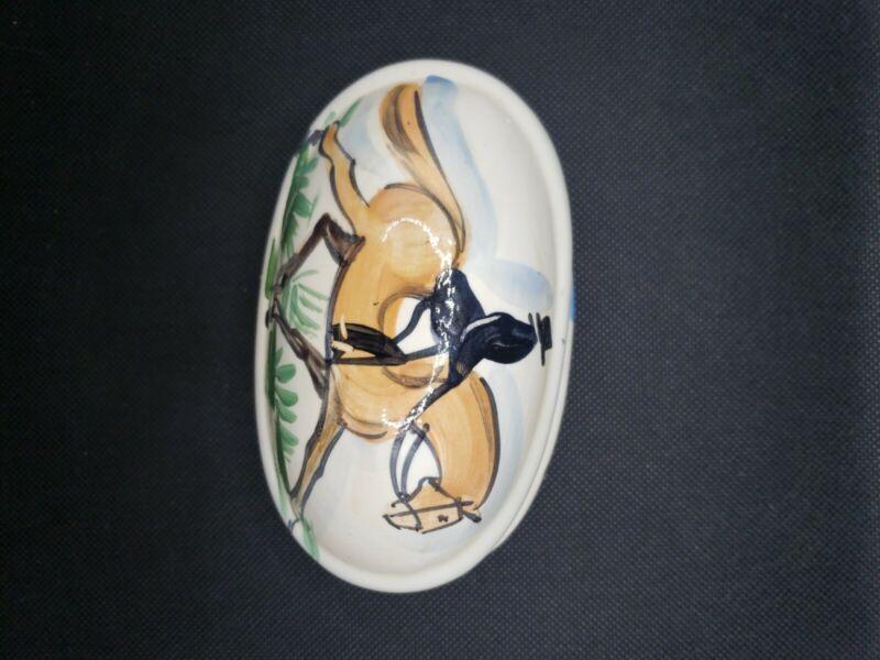 Trinket Dish Horse Dresage Hand-painted
