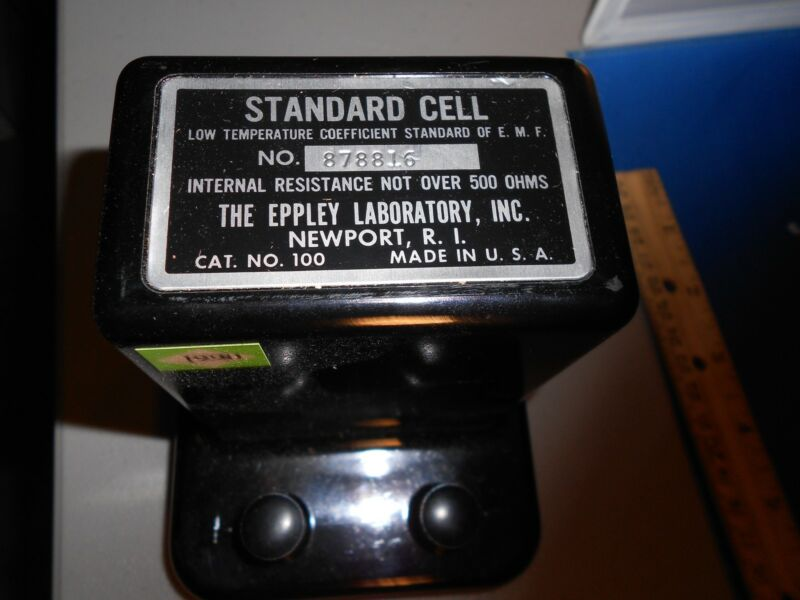 MODEL 100 STANDARD CELL-EPPLEY LABORATORY NEW WITH CERTS-NEW OLD STOCK