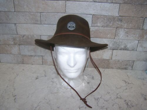 VINTAGE WOOL BOY SCOUTS OF AMERICA HAT W/ EMBLEM, SMALL