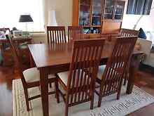 Solid hard wood dining table and chairs Lilli Pilli Sutherland Area Preview