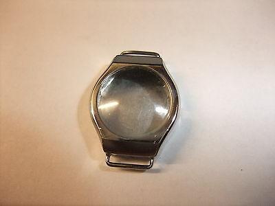 Original DDR Produktion Gehäuse mit Uhrglas Ruhla Glashütte Uhr 27,0 x 20,0 mm