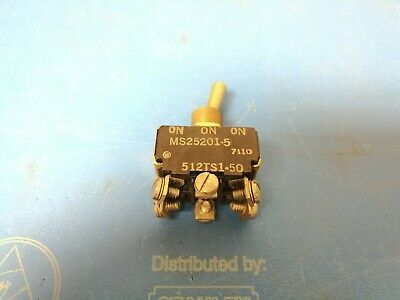 Micro Switch Toggle 512ts1-50 On-off-on Dpdt 10amp 125vac Ms25201-5