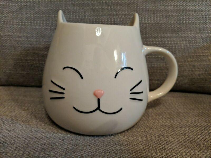 World Market Cat Mug With Paw Print Inside