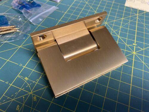CRL Shower Door Hinge Set Satin Brass/Brushed Gold Rare Fram