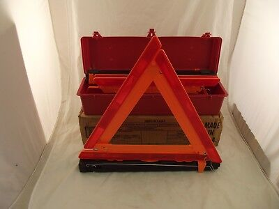 Cortina Safety Triangles Strato-Flare 219 Emergency Warning Triangle Kit X5 M, used for sale  Shipping to India