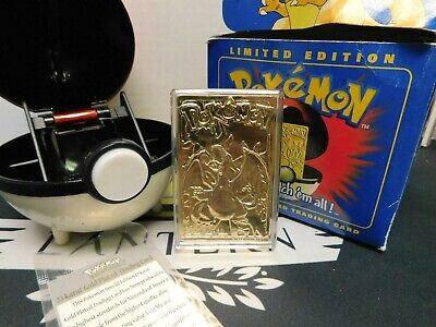 1999 Pokémon: Burger King ~ Charizard ~ 23K Limited Edition Gold Card
