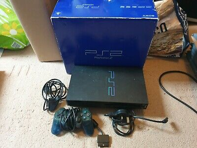 Sony Playstation 2 Console, Boxed With Leads & Official Controller, Tested