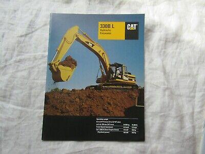 Caterpillar Cat 330b L Hydraulic Excavator Brochure