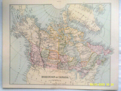 Antique Map. DOMINION OF CANADA. Pub'd Wm. Mackenzie. c1895. VG