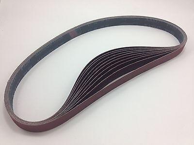 """1"""" x 42"""" Sanding Belts, 10 pack, 150 grit, AL Oxide - Made in USA"""