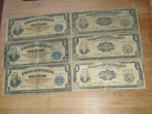 Lot of 6 World Paper Money #2711