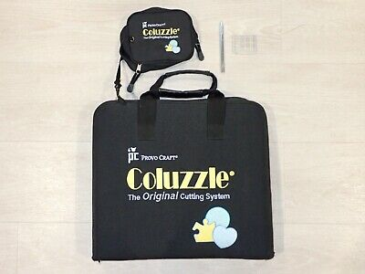 Coluzzle Lot 16 Stencil Template w Case Book Knife +