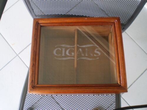 CIGARS HUMIDOR VINTAGE FROM 1997 CRYSTAL TOP W/ HYGROMETER