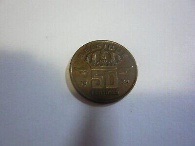 50 centimes belgique pièce - belgie munt 1979