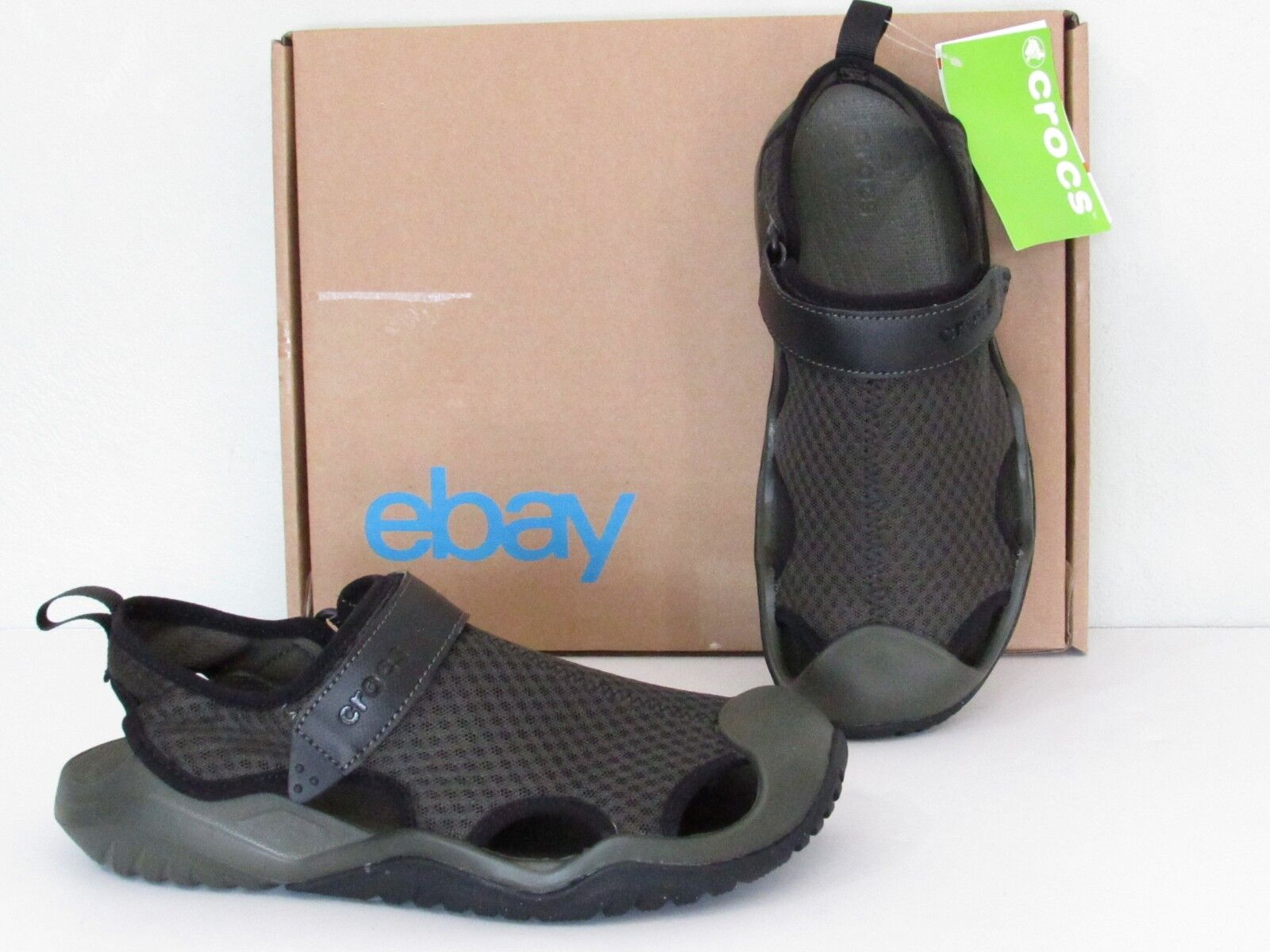 CROCS Swiftwater Lightweight Sport Sandals Shoes Pick Navy, Green Mens Size 7, 8 1