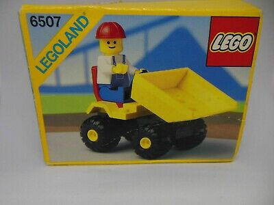 6507 LEGO AUTO LAVORI LEGO CITY - MINI DUMPER RARE COMPLETO 1989