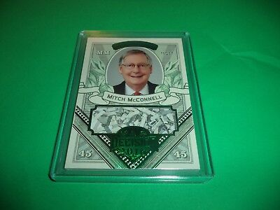 Decision 2016 Series 2 Mitch Mcconnell Green Foil Money Card Mo53