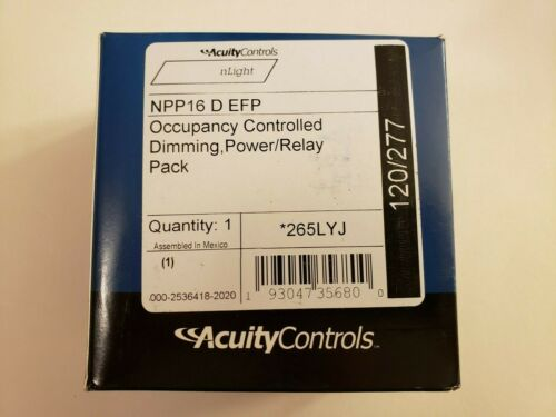 BRAND NEW nLight ACUITY CONTROLS NPP16 D EFP Dimming Power Relay Pack