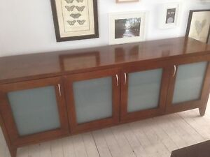 Timber TV Entertainment Cabinet Grays Point Sutherland Area Preview