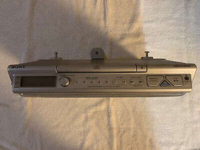 Sony ICF-CD543RM Mega Bass Under Cabinet CD Player AM FM Kitchen Clock Radio