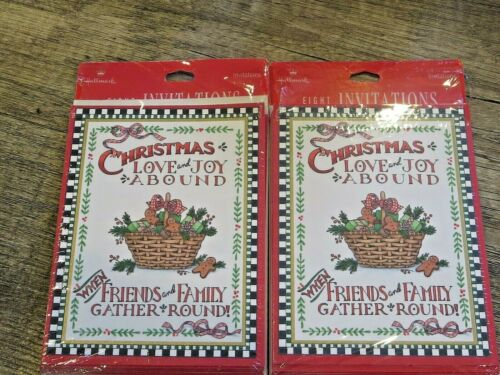 Vintage 2 packages of 8 Hallmark Christmas Invitations