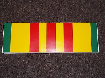US VIETNAM SERVICE RIBBON BUMPER STICKER DECAL U.S.
