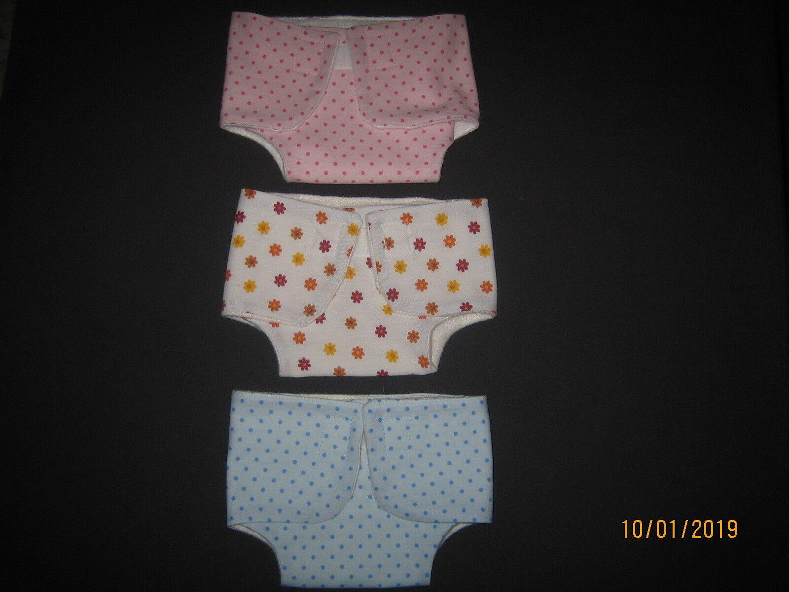 Puppenwindel Stoffwindel für Baby Puppen 43 cm z. B. Baby Born