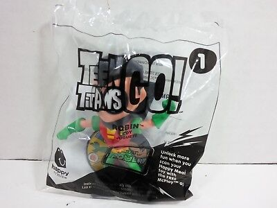 McDonalds Happy Meal Toy DC Comics Teen Titans Go Robin Figure (2017, sealed)